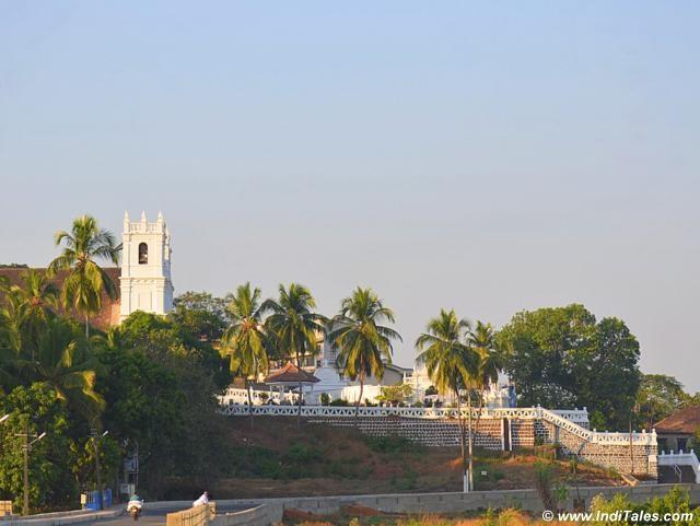 Landscape view of St Thomas Church, Aldona Goa