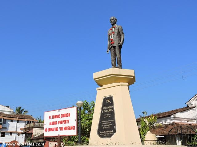 Edward J Soars statue at Aldona