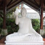 Buddha statue in marble at Mayfair Gangtok