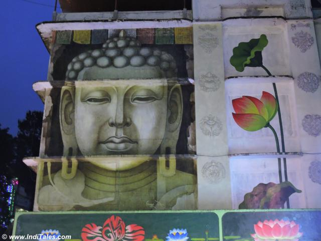 Buddha Mural at M G Marg, Gangtok city