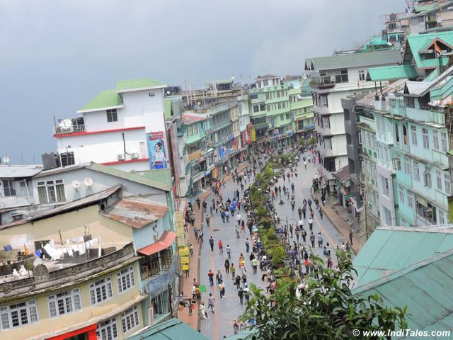 Top View of M G Marg, Gangtok