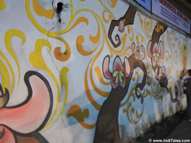 Murals from Winter Carnival, Gangtok, Sikkim