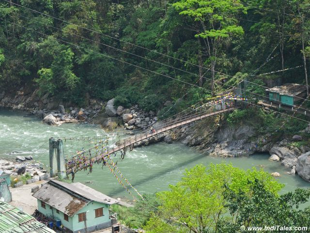 Foot-bridge over Rangeet river in Pelling, Sikkim