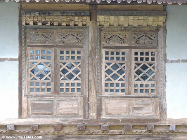 Woodwork window at Pemayangtse monastery Pelling