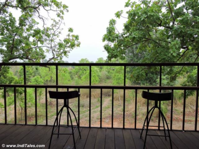 Viewing deck like balconies at Pench Tree Lodge a Treehouse