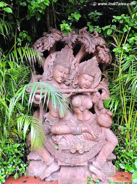 Radha Krishna stone sculpture at Mayfair Gangtok