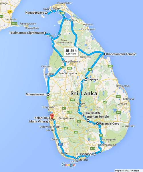 Ramayana Places to See in Sri Lanka