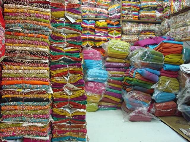 Shop at Meena Bazaar in Old Delhi