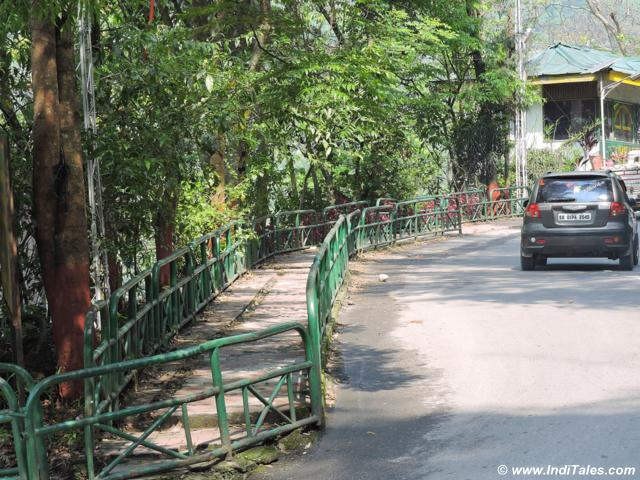 Sidewalks on Gangtok city roads