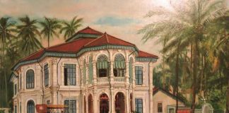Sketch of a Peranakan Home