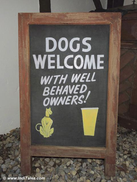 Dogs welcome with well behaved ownners