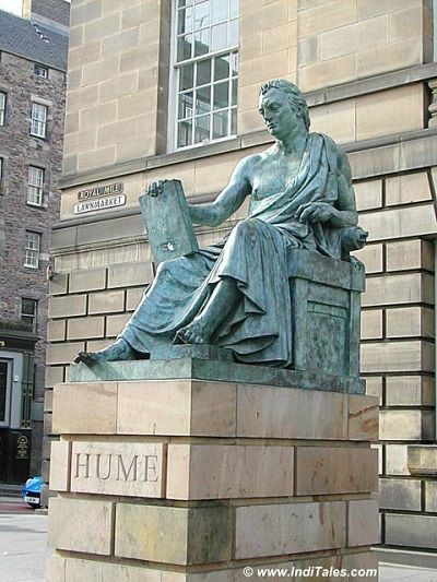 Statue of David Hume at Royal Mile, Edinburgh