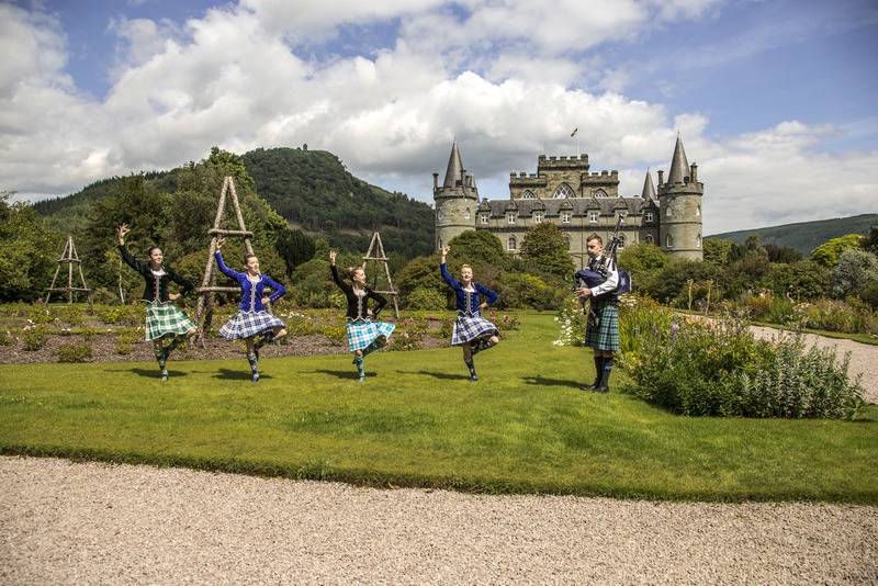 Scottish dancers at Inveraray Castle, Scotland. Image source - VisitBritain Tourism