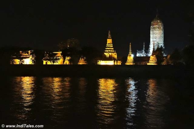 Heritage Reflecting in the River - Ayutthaya at Night