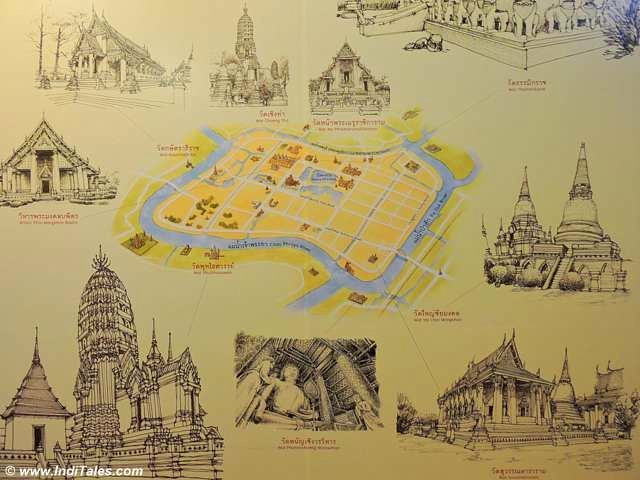 Map of Ayutthaya - Surrounded by Rivers