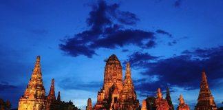 Ayutthaya Wat Chaiwatthanaram at Night