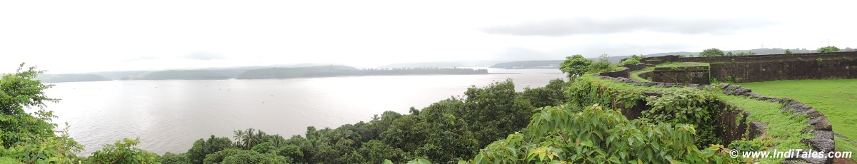 Panorama of Ganpatipule
