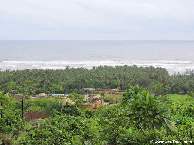 View of Konkan Coast from hilltop temple