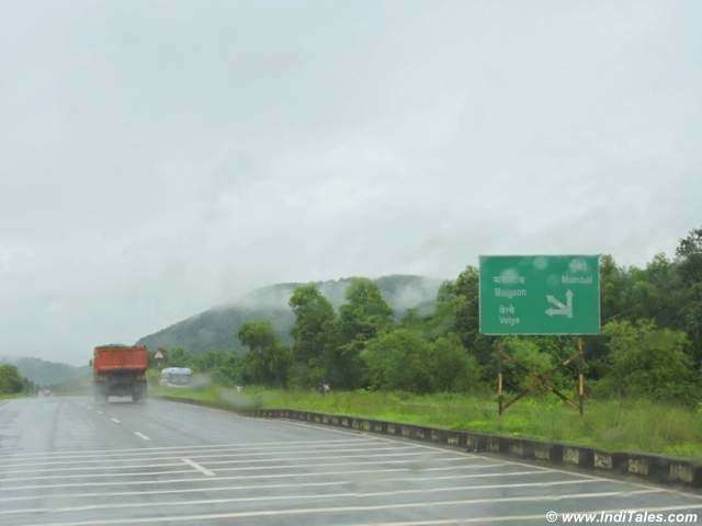 Hazy monsoon roads of Konkan Coast