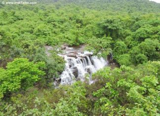Top view of Savdav Waterfalls