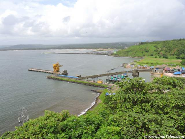Jetty and Ratnagiri town from Ratnadurga Fort