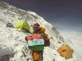 Neelima Pudota - Holding the Indian Tricolor
