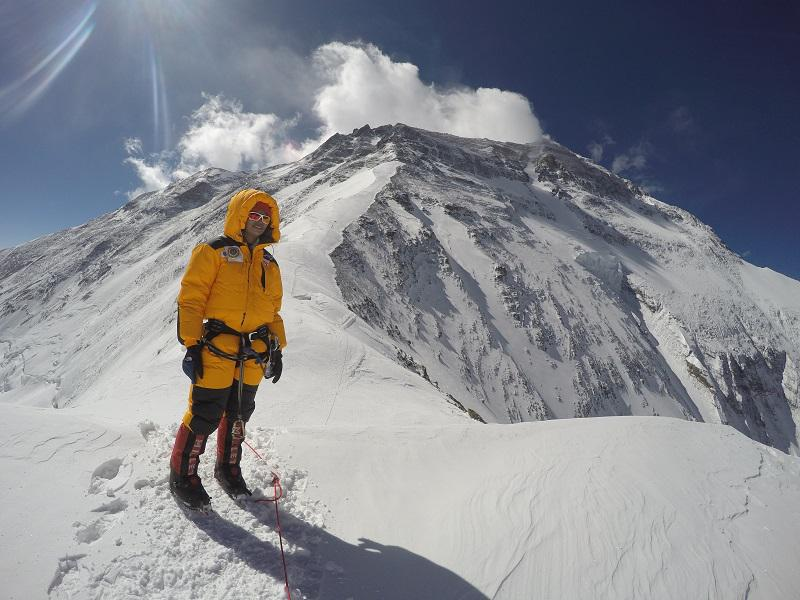 Neelima Poduta at Sagarmatha or Mount Everest