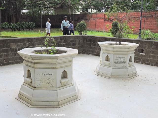 Samadhis of Kasturba Gandhi & Mahadev Desai