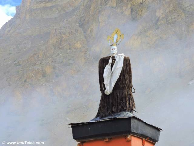 Mysterious Figures on top of Key Monastery at Kaza
