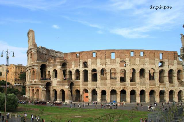 The Colosseum as seen during our Roman Holiday
