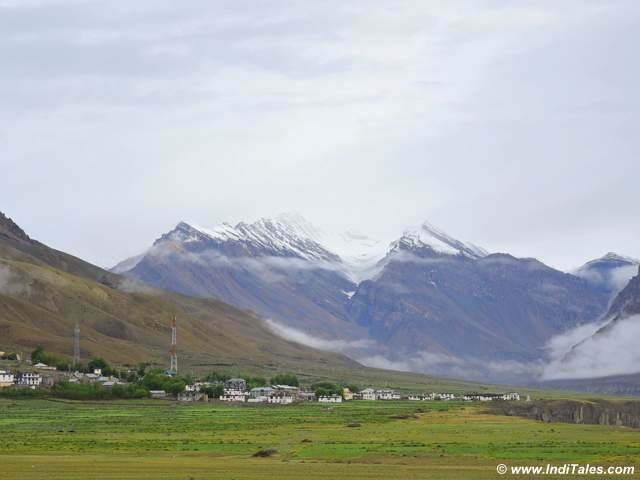 Typical landscape around Kaza