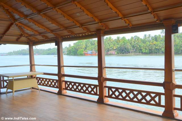 Luxury boat ride on Ashtamudi Lake