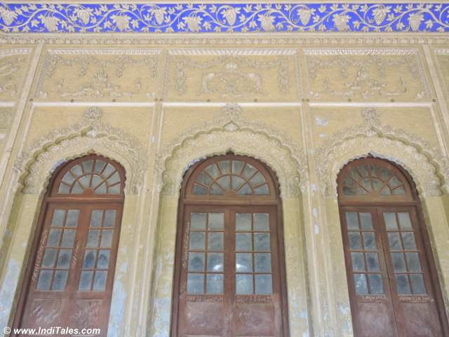 Ornate doors of Bahu Begum ka Maqbara at Faizabad