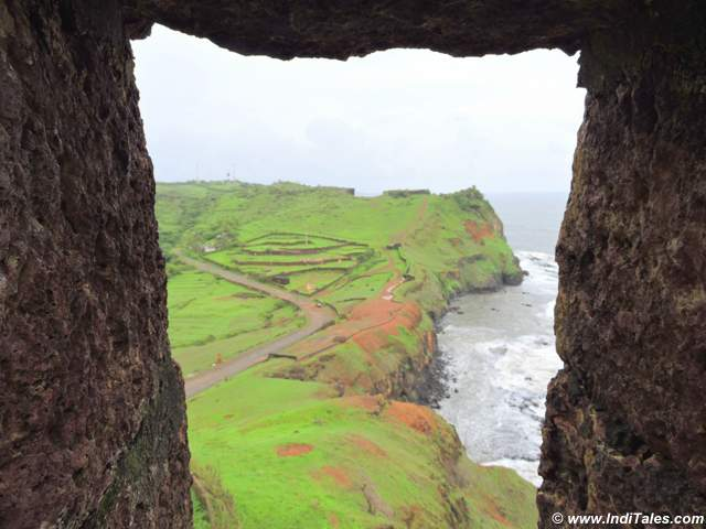 View from one of the bastions of Ratnadurg Fort