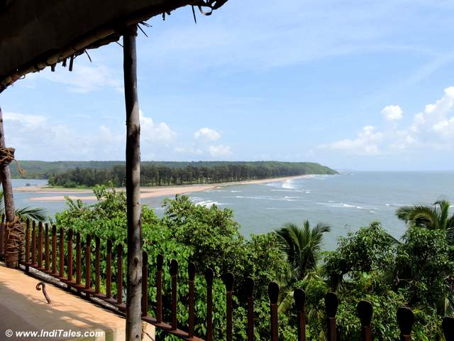 View from Tavern - the restaurant at Fort Tiracol Heritage Hotel, Goa