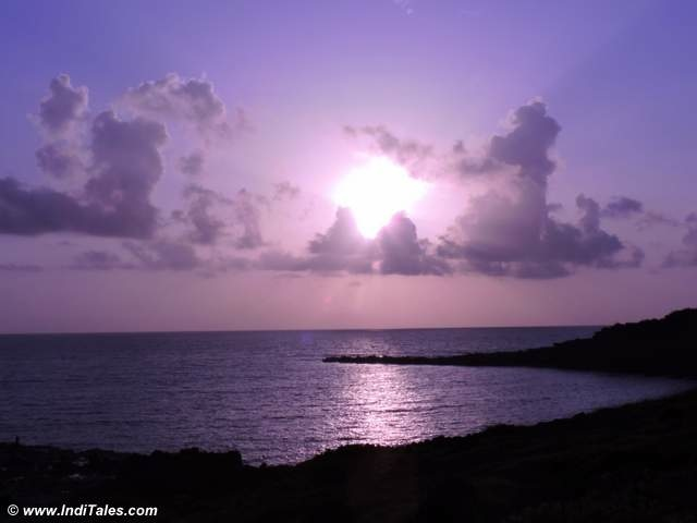 Sunset behind Tiracol Fort