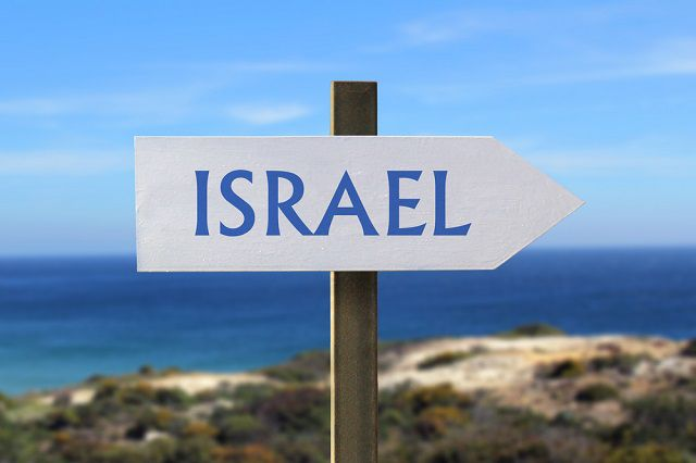Israel sign board