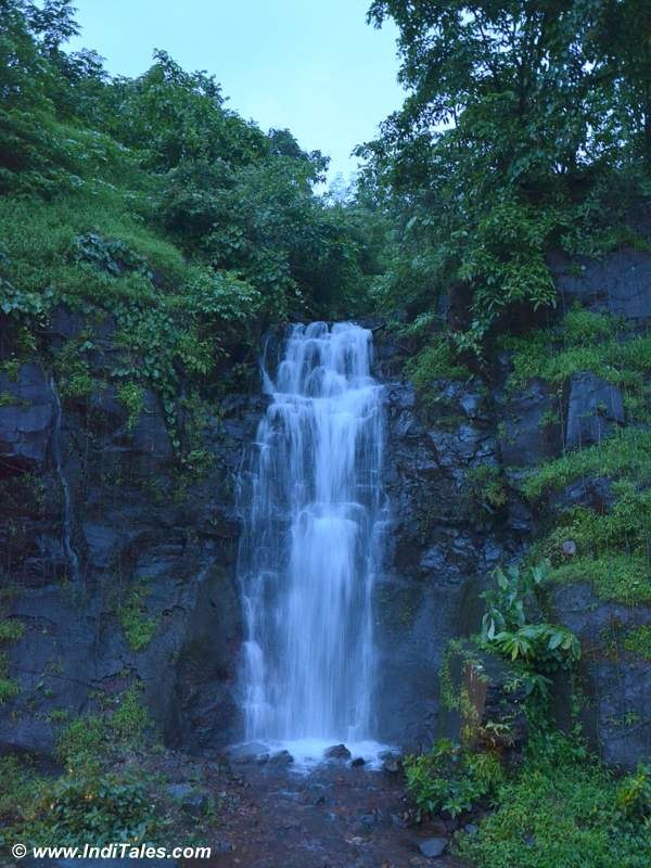 Waterfall at dusk in Konkan