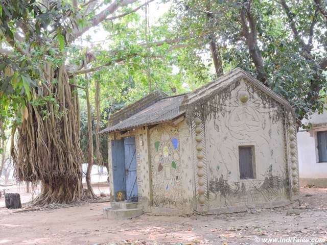 Lovely hut at Shantiniketan