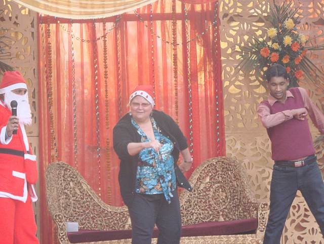 Barbara Miller elegbede dancing