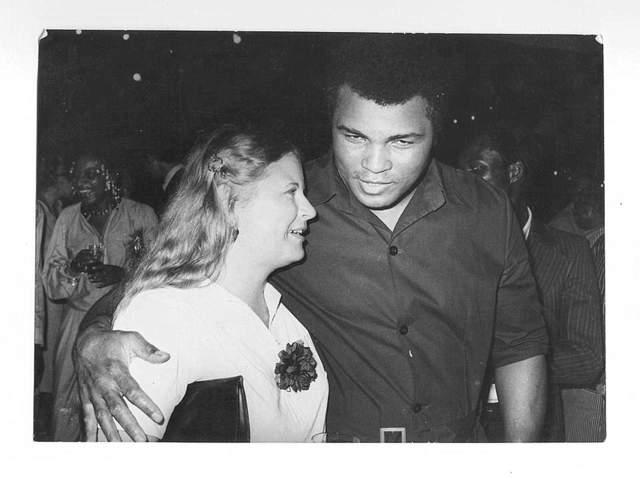 Barbara Miller Elegbede with Mohammed Ali