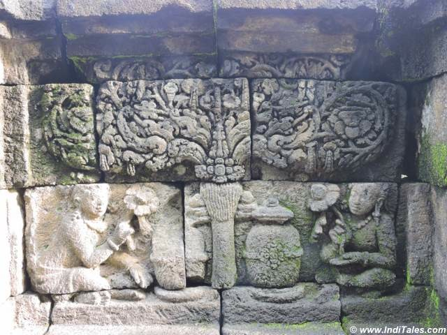 Decorative panels at Borobudur