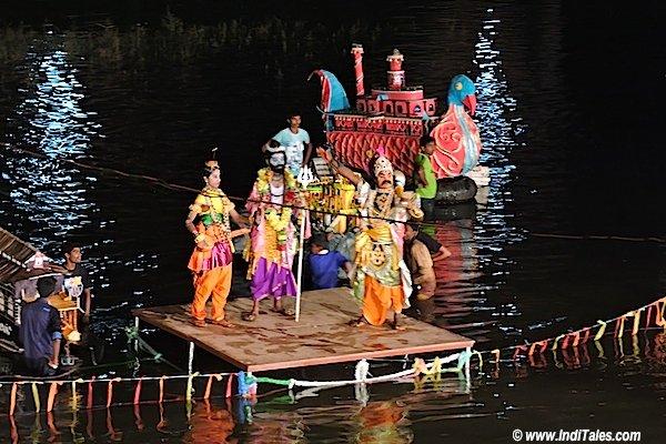 Shiva, Parvati & Tripurasur