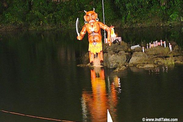 Tripurasur standing in Valvanti River, Tripurari Purnima Celebrations