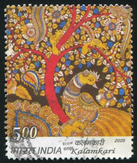 A Kalamkari stamp issued by Govt of India