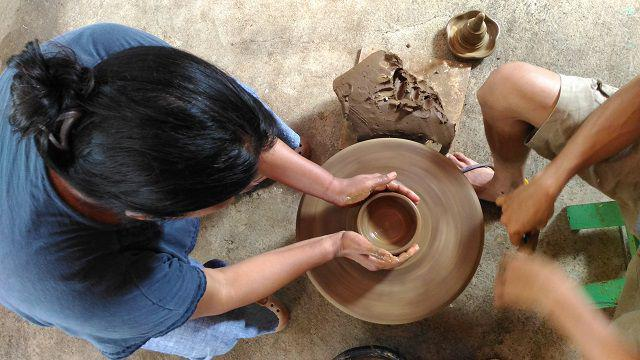 At a Potter's Wheel in Jogja Indonesia