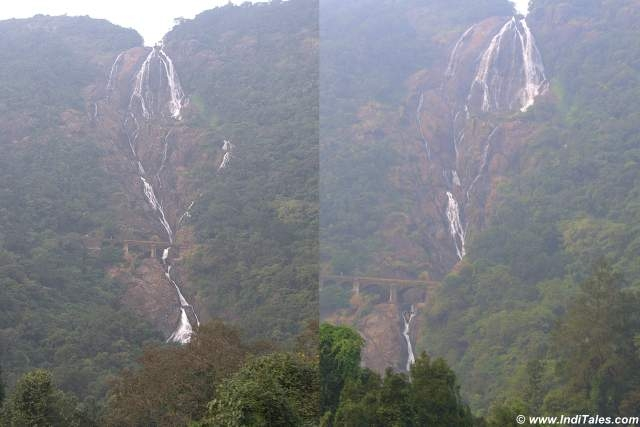 Dudhsagar Waterfalls, Goa as captured from a train