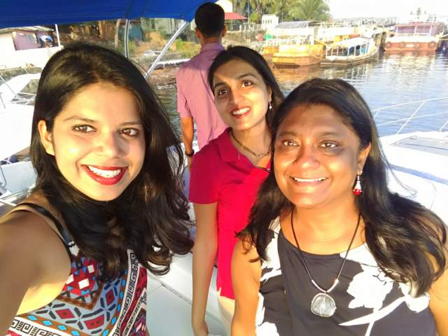 With friends on a Yacht in Goa
