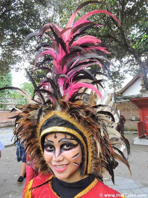 A dancer in her elaborate costume