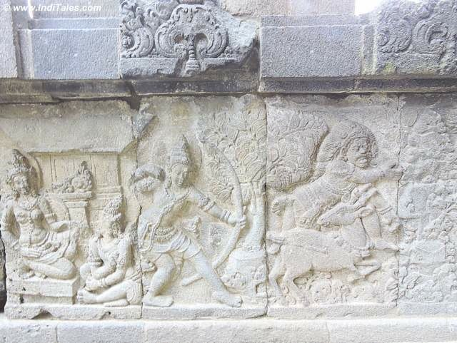 Chasing the golden deer by Rama - Ramayana panel